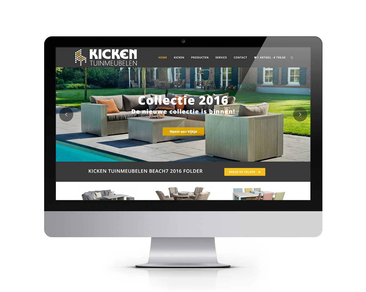 Kicken Tuinmeubelen website
